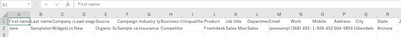 feshsalesのCSVファイル