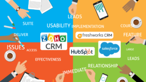 zohoと他社CRMを徹底比較!hubspot・salesforce・freshworksCRM